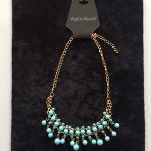 """What's New???"" Aqua necklace, NWT"